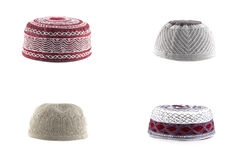 Kopiah hat for muslims. Collection kopiah hat  for muslims isolated on white background Stock Images