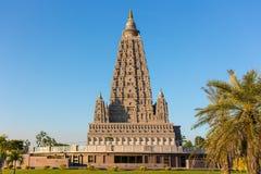 Kopiastället var Gautam Buddha nådde fram till insikt royaltyfria bilder