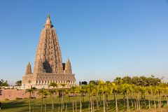 Kopiastället var Gautam Buddha nådde fram till insikt royaltyfri bild