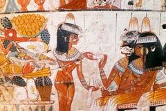 Kopie der alten ägyptischen Illustration und der Hieroglyphen Lizenzfreie Stockbilder