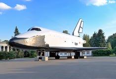 Kopie der sowjetischen Raumfähre nannte Buran stockfotografie
