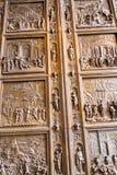 Kopie der Türen des Baptistery in Florenz im Museum in Berlin Germany Stockfotografie