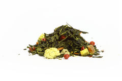 Kopiec zielona herbata fotografia stock