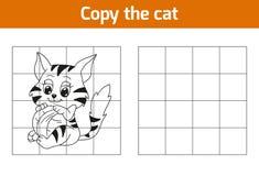 Kopieer het beeld: kat vector illustratie