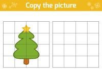 Kopieer het beeld, Kerstboom vector illustratie