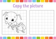 Kopieer het beeld Kleurende boekpagina's voor jonge geitjes Onderwijs die aantekenvel ontwikkelen Spel voor kinderen De praktijk  royalty-vrije illustratie