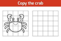 Kopieer het beeld (krab) vector illustratie