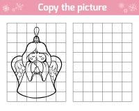 Kopieer het beeld voor kinderen Kerstmisspeelgoed, engel vector illustratie