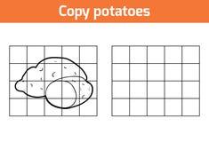 Kopieer het beeld Vruchten en groenten, aardappel stock illustratie