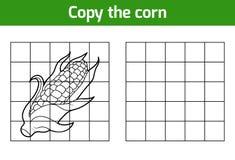 Kopieer het beeld Vruchten en groenten, graan stock illustratie