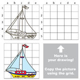 Kopiera bilden genom att använda raster Yacht vektor illustrationer