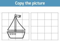 Kopiera bilden, yacht stock illustrationer