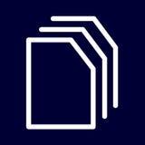 Kopiera eller söker symbolen av vita översikter för uppsättningen Arkivfoton