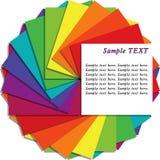 kopiera mångfärgat anmärkningsarkavstånd Arkivbilder