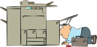 kopiera maskinrepairmanen royaltyfri illustrationer