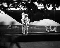 kopiera spacemanen Royaltyfria Foton