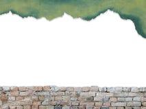 Kopiera utrymme för text på bakgrund för tegelstenvägg Arkivbild