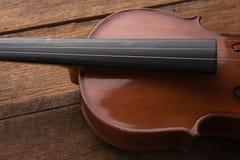 kopiera utrymme med slut sköt upp av en fiol & en x28; fiol violoncell, sympho Arkivfoton