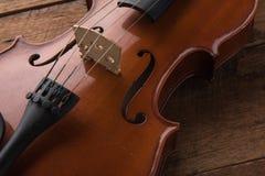 kopiera utrymme med slut sköt upp av en fiol & en x28; fiol violoncell, sympho Royaltyfri Fotografi
