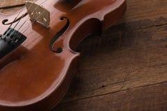 kopiera utrymme med slut sköt upp av en fiol & en x28; fiol violoncell, sympho Royaltyfria Bilder