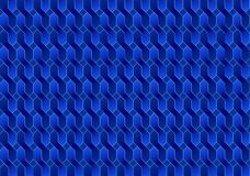 Kopieren Sie blaue Illusion des Hintergrundes, Zusammenfassung, Geometrie Stockfotografie