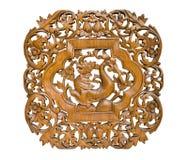 Kopieren Sie die siamesische Kunst, die auf Holz, König von Nagas schnitzt Lizenzfreies Stockfoto