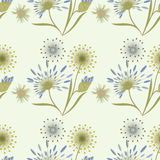 Kopieren Sie leichtes beige Blau der Wildflowers auf einer hellen kreativen Hintergrundkunst Lizenzfreies Stockfoto