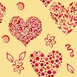 Kopieren Sie mit Blättern in Form von Herzen 2 Lizenzfreie Stockbilder