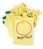 Kopieren Sie Platz für wichtige Anmerkungen Lizenzfreies Stockbild