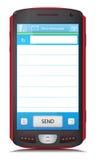 Kopieren Sie Raum für SMS-Text an Touch Screen Telefon Lizenzfreie Stockfotos