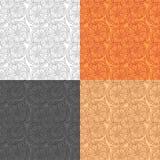 Kopieren Sie Zitronenscheiben der Orange auf einem bunten Hintergrund vektor abbildung