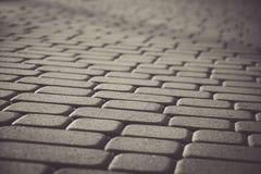 Kopiert, Fliesen, Zementziegelstein-Bodenhintergrund pflasternd Lizenzfreie Stockbilder