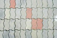 Kopiert, Fliesen, Zementziegelstein-Bodenhintergrund pflasternd Lizenzfreie Stockfotos