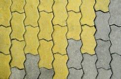 Kopiert, Fliesen, Zementziegelstein-Bodenhintergrund pflasternd Stockfoto