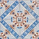Kopierte farbige Fliesen auf Haussymbol von Lissabon Europäische authentische Art Stockfoto