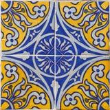 Kopierte farbige Fliesen auf Haussymbol von Lissabon Europäische authentische Art Lizenzfreie Stockfotos