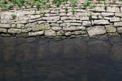 Kopierte Felsen unter Wasser stockbild