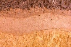 Kopierte Schicht Tonboden für den Hintergrund Stockfotos