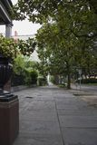 Kopierter Bürgersteig in der Savanne, GA stockfoto