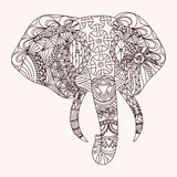 Kopierter Elefant lizenzfreie abbildung