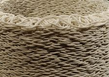 Kopierter gelegter Seilhintergrund Lizenzfreie Stockfotos