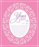 Kopierter ovaler weißer und rosa Rahmen Stockfoto