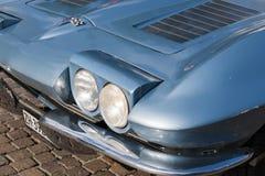 Koplamp de klassieke cars_2015_Chevrolet Korvetcoupé van de het Zuid- van Tirol Royalty-vrije Stock Foto's