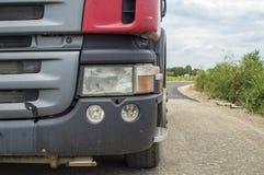 Koplamp op een vrachtwagen stock afbeeldingen