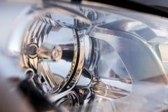 Koplamp van auto als abstracte achtergrond stock fotografie