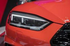 Koplamp van de nieuwe auto van Audi RS stock fotografie