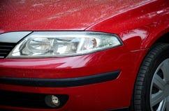 Koplamp van de rode auto royalty-vrije stock foto's
