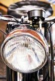 Koplamp van een oude motor royalty-vrije stock afbeeldingen