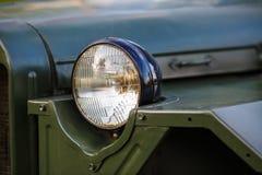 Koplamp van militaire auto royalty-vrije stock afbeeldingen