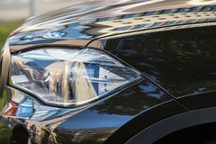 koplamp van prestigieuze autoclose-up royalty-vrije stock fotografie